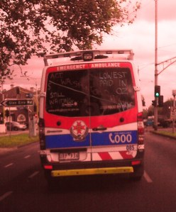 Victorian Paramedics - the lowest paid in a country