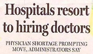Hospitals resort to hiring doctors